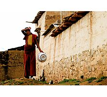 Monk in daily life Photographic Print