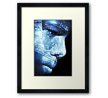 wonder in blue Framed Print