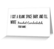 Blank Space  Greeting Card