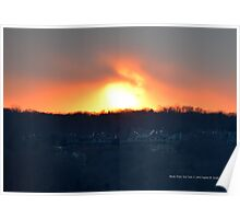 Sunset In December | Rocky Point, New York  Poster