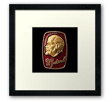 Soviet badge Lenin relief Framed Print