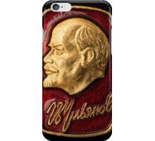 Soviet badge Lenin relief iPhone Case/Skin