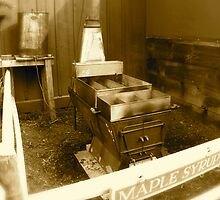 Maple Syrup Stove | Sepia Series by Jack McCabe