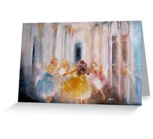 muses in hermitage by Tokiko Anderson Greeting Card