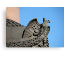 Double-headed eagle spread its wings Canvas Print