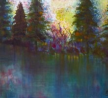 Sunlit Forest by ClaireBull