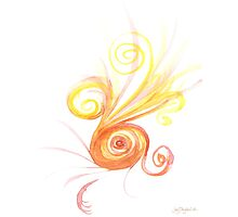 Watercolour Spiral Photographic Print