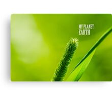 Green Grass And Sun - My planet Earth Canvas Print