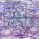 Blue & Purple Abstract Color Study by Ela Steel