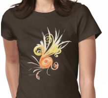 Watercolour Spiral Womens Fitted T-Shirt