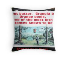 Garbage Kills Bears Throw Pillow