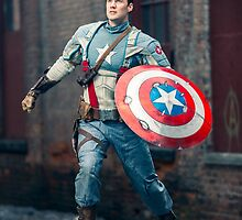 Michael Mulligan as Captain America (6.1 - Photography by Sean William / Dragon Ink Photography) by mostdecentthing