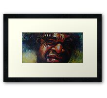 """Considering the Apology""- after an original image by Ronald Rockman Framed Print"