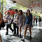 School children on Swanston st. Melbourne by observer11