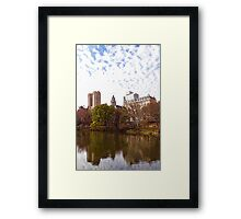 New York City Central Park Living - Impressions Of Manhattan Framed Print