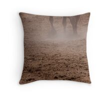 Equine Foot Steps Throw Pillow