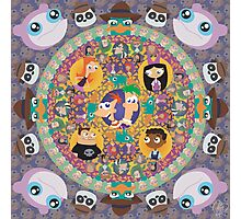 Phineas and Ferb Mandala Photographic Print