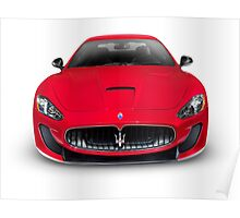 2015 Maserati GranTurismo MC Centennial Edition luxury car front view art photo print Poster