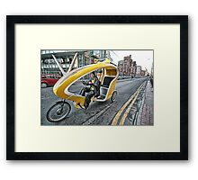 Cycle Taxi Framed Print
