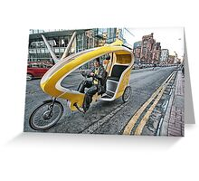 Cycle Taxi Greeting Card
