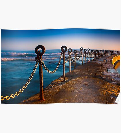 Ocean Baths Newcastle Poster