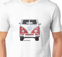 Splitty VW Bus Front Red Unisex T-Shirt