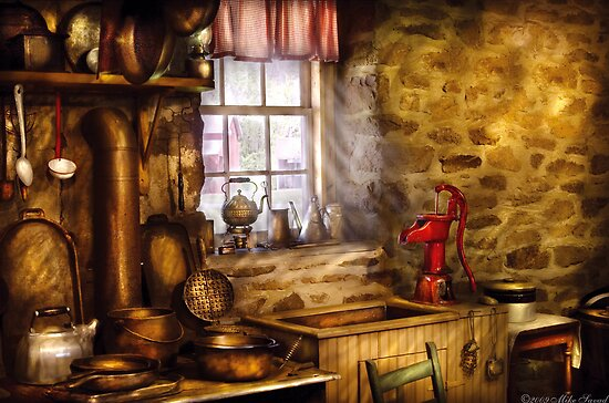 A rather old kitchen by Mike  Savad