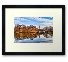New York City Central Park Bow Bridge - Impressions Of Manhattan Framed Print