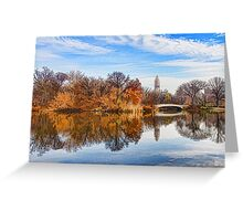 New York City Central Park Bow Bridge - Impressions Of Manhattan Greeting Card