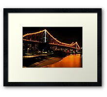 Golden Crossing Framed Print
