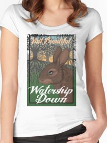 Visit Beautiful Watership Down Women's Fitted Scoop T-Shirt