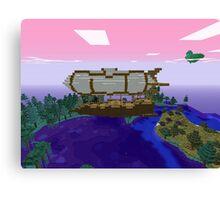 Minecraft Zeppelin Canvas Print