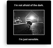 Not Afraid of the Dark Canvas Print