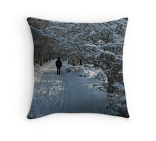 Snow Figure Throw Pillow