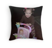 Elli and Her Babies Throw Pillow