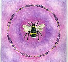 Lavender Bee by Jacquiderose