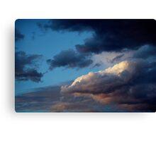Evening sky at Sunnbüel Canvas Print