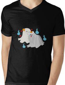 Ghost Maltese  Mens V-Neck T-Shirt