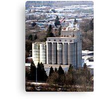 Grain Millers Inc. 20-silo Mill  Metal Print