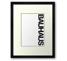 BAUHAUSE AND THE BLANK SPACE (W) Framed Print