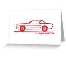 1964 65 66 Ford Mustang Hard Top Greeting Card