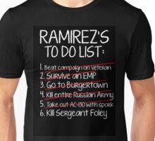 Ramirez's To-Do List Unisex T-Shirt