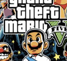 grand theft mario Sticker