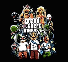 grand theft mario by Ferbre