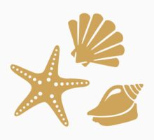 Shells starfish One Piece - Short Sleeve