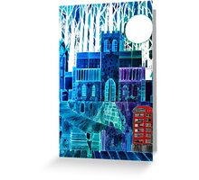 Moon Over St Mary de Haura (Shoreham by Sea,  West Sussex) Greeting Card