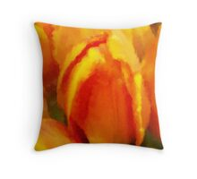 Tulip Impressions Too Throw Pillow