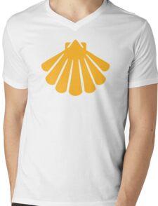 Yellow shell Mens V-Neck T-Shirt