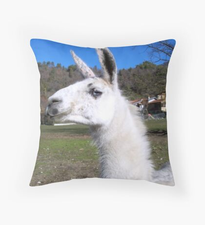 Graceful llama  Throw Pillow