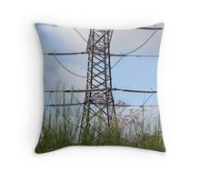 Pylon on the march Throw Pillow
